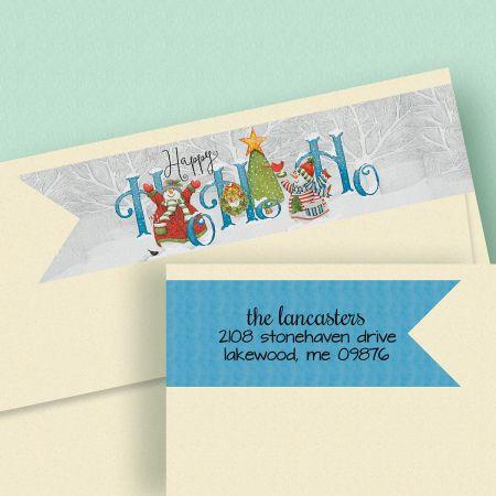 Winter Friends Connect Wrap Diecut Address Labels