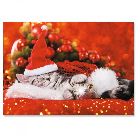 Purfect Dreams Christmas Cards - Personalized