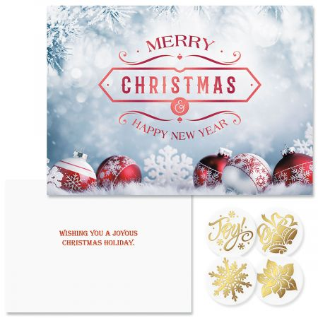 frosted foil christmas cards - Foil Christmas Cards