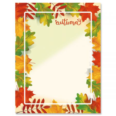 Fall Brilliance Letter Papers