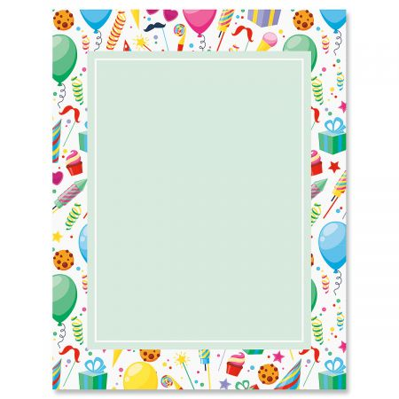 Surprise Party Letter Papers