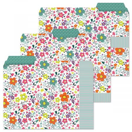 Rainbow Daisies File Folders