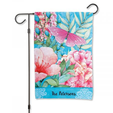 Personalized Butterfly Garden Flag