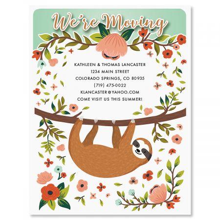 Sloth New Address Postcards