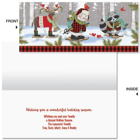 Forest Friends Slimline Holiday Cards