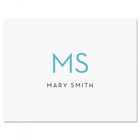 Minimalist Monogram Custom Note Cards