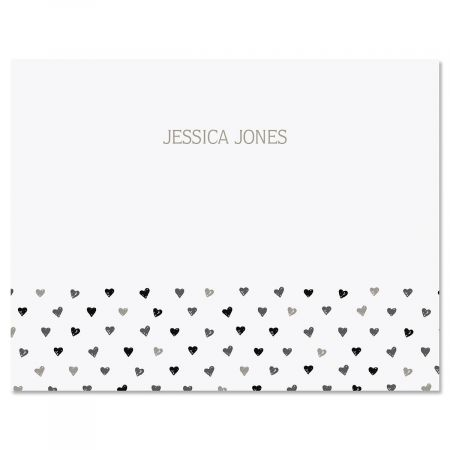 Mini Hearts Custom Note Cards