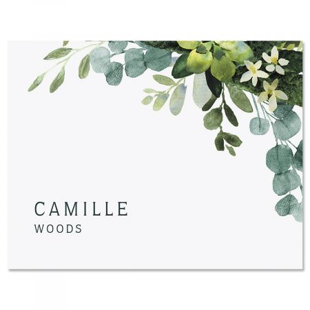Olive Bloom Custom Note Cards