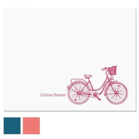 Sketch Bicycle Custom Note Cards
