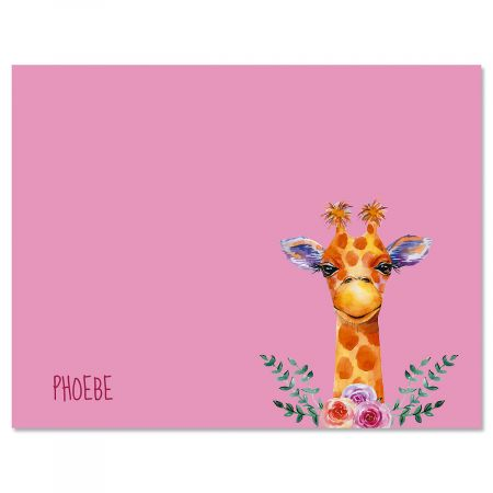 Mini Giraffe Custom Note Cards