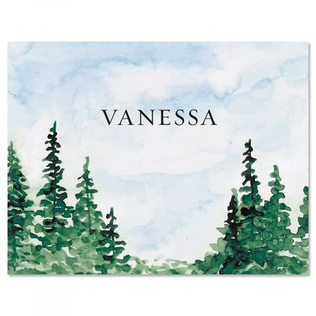 Watercolor Forest Custom Note Cards