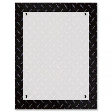 Black Steele Plate Letter Papers