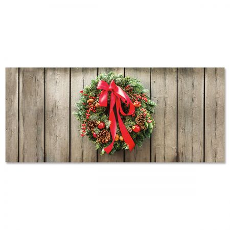 Nature's Wreath Slimline Holiday Cards