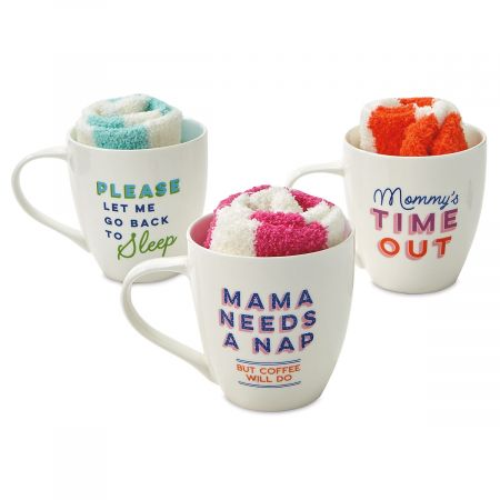Parenthood Mugs with Socks