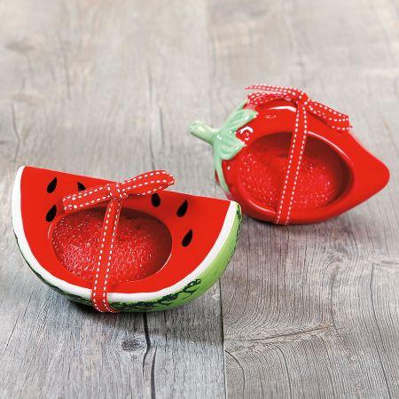 Fresh Picked Watermelon & Strawberry Scrubby Holder Sets