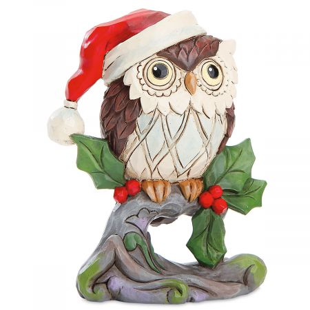 Christmas Owl.Mini Christmas Owl By Jim Shore