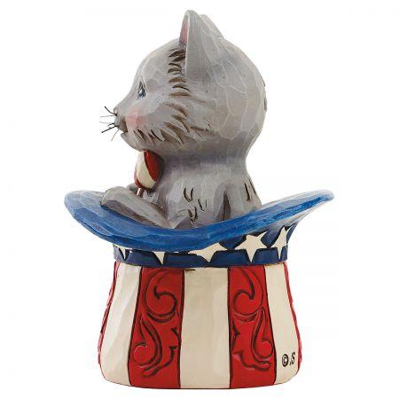 Uncle Sam Mini Kitten Figurine by Jim Shore