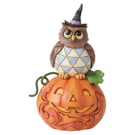 Jack-O-Lantern Owl Figurine by Jim Shore™