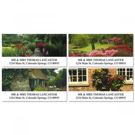 Gorgeous Gardens Deluxe Address Labels  (4 designs)