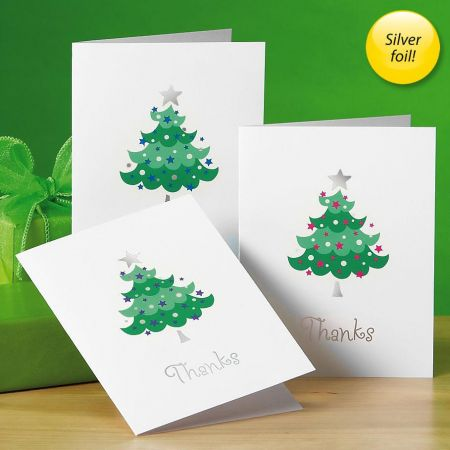 Trendy Tree Foil Thank You Cards -  Buy 1 Get 1 Free