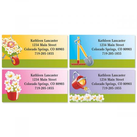 Landscaper Border Address Labels  (4 designs)
