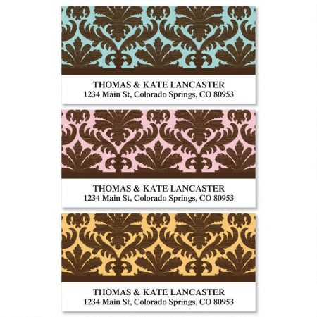 Damask Deluxe Address Labels  (3 designs)