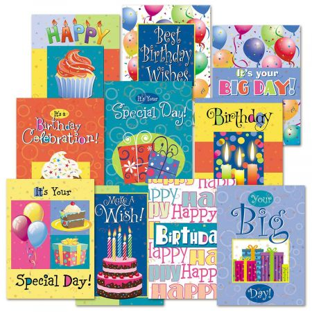 Birthday Fun Greeting Cards Value Pack