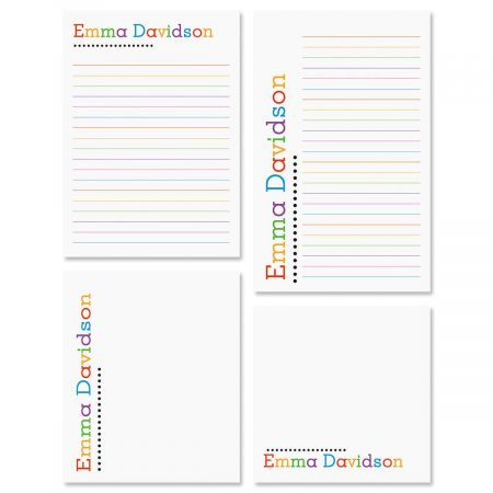 Personalized Alpha Dots Notepad Set