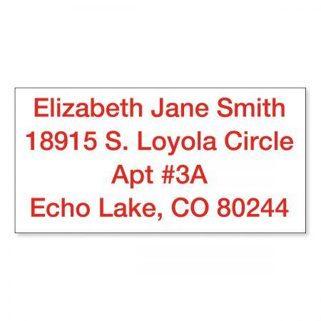 Custom Standard Self-Inking Address Stamp - Red Ink