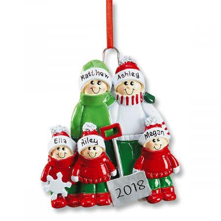 Holiday Snow Shovel Custom Christmas Ornaments