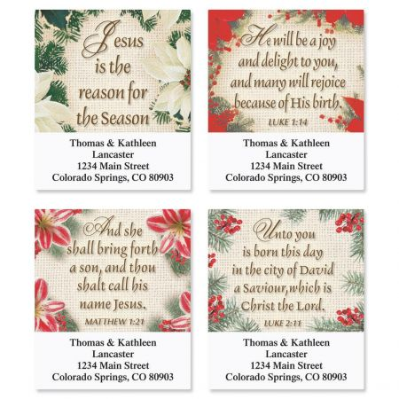 Reason for the Season Address Labels  (4 designs)