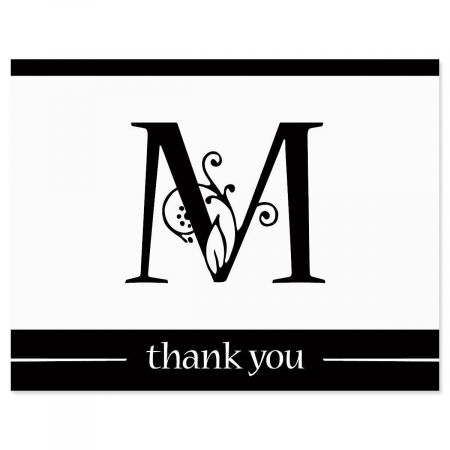 Formal Initial Custom Thank You Cards