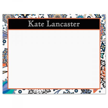 Color Paisley Correspondence Cards