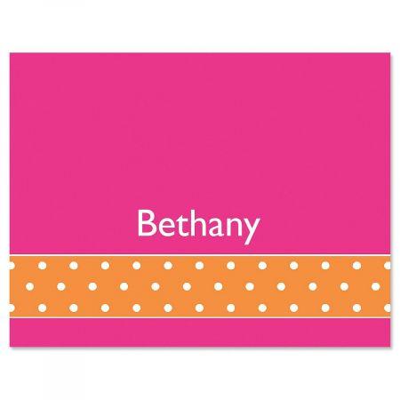 Zesty Dots Custom Note Cards