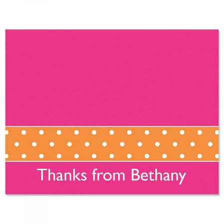 Zesty Dots Custom Thank You Cards
