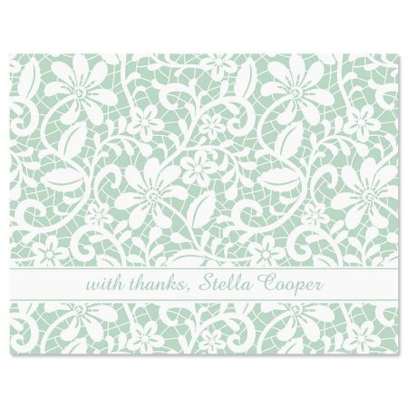 Lace Personalized Thank You Cards