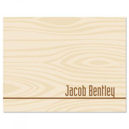 Woodgrain Custom Note Cards