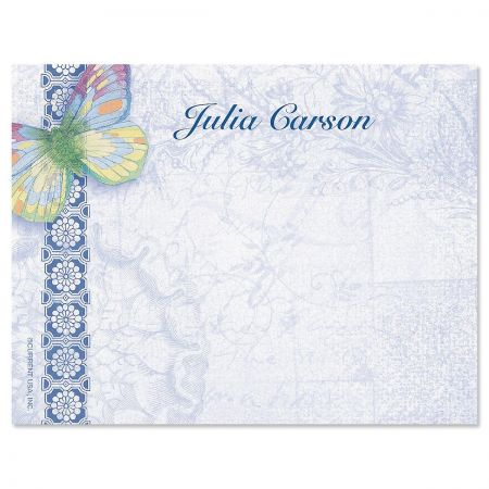Exotic Prints Personalized Correspondence Cards