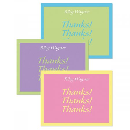Bordered Hues Custom Thank You Cards