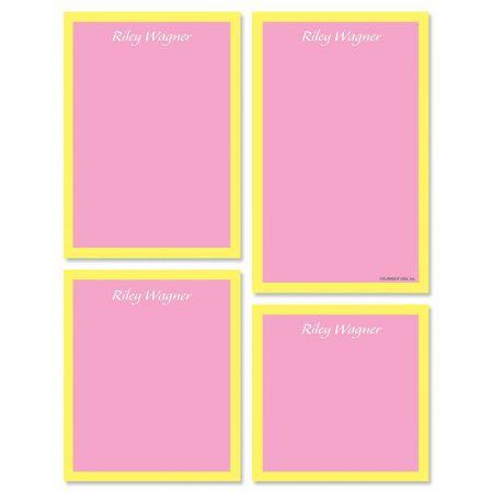 Bordered Hues Notepad Set