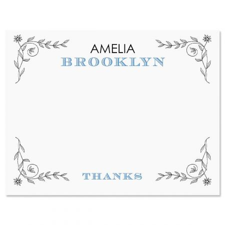 Pentimento Personalized Thank You Cards