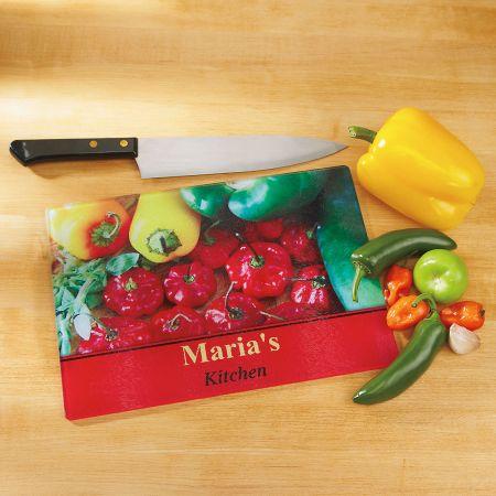 Chili Pepper Board In Kitchen