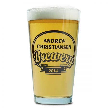 Brewery Name Pub Pint Personalized Beer Glass