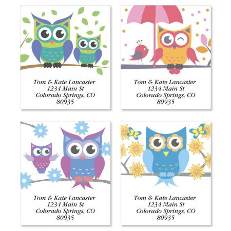 Owluminations Select Return Address Labels  (4 Designs)