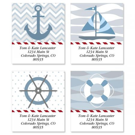 Nautical Chic Select Return Address Labels  (4 Designs)