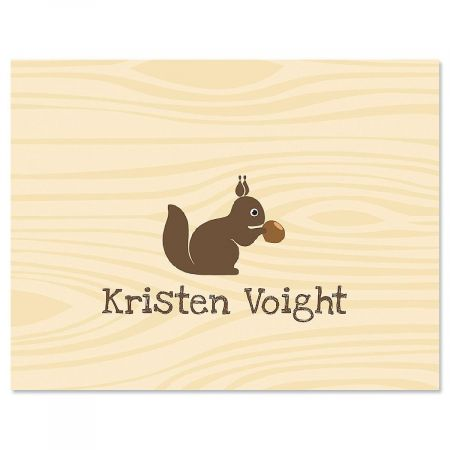 Woodland Squirrel Custom Note Cards