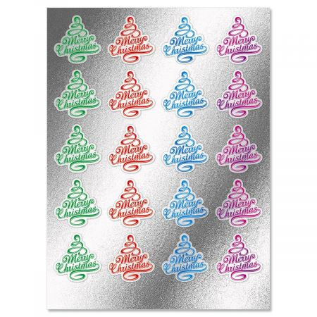 Foil Christmas Tree Seals