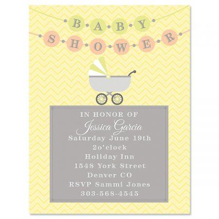 Banner Baby Invitation