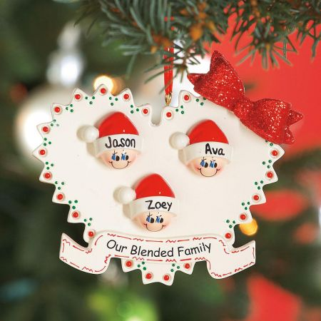 Blended Family Custom Christmas Ornaments