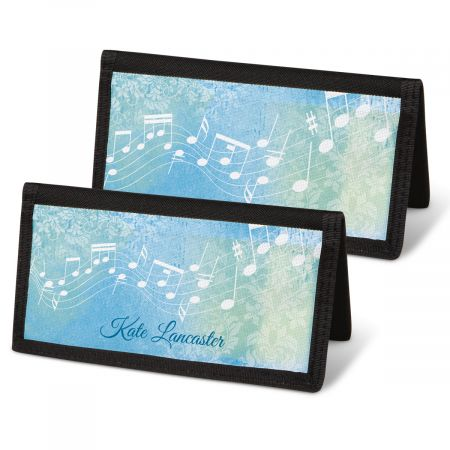 Floral Notes Checkbook Cover